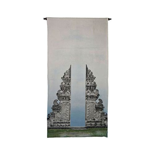 Dimond Home Handpainted Wall Tapestry Heritage Gray Gates of Kuta Tapestry Wall Art