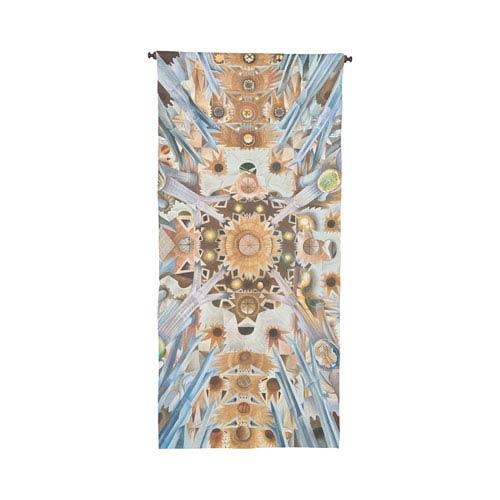 Handpainted Wall Tapestry Heritage Gray Sagrada Familia Ceiling Tapestry Wall Art