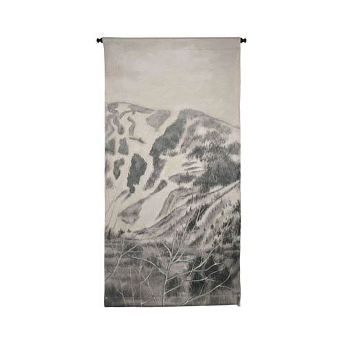 Handpainted Wall Tapestry Heritage Gray Mountains Tapestry Wall Art