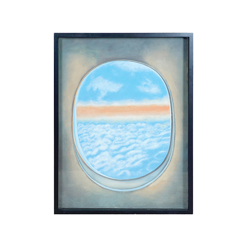 Plane Window Ii Multi-Color Wall Art