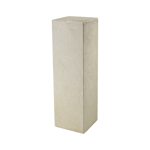 Ivory Tower Cream Stone Plant Stand