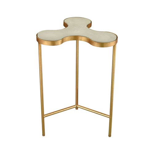 Dimond Home Reims Gold Leaf and Concrete Accent Table
