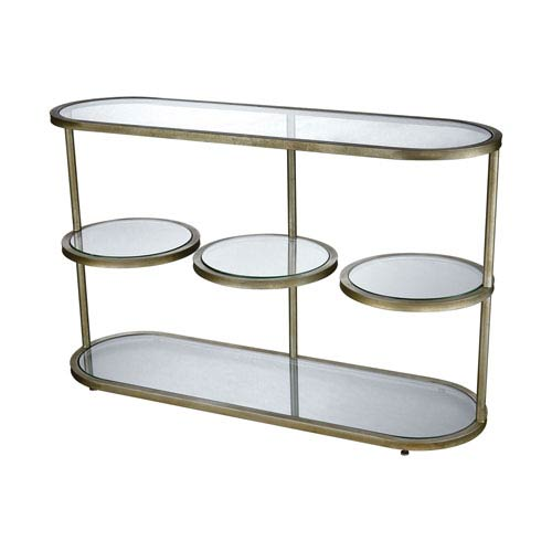 Dimond Home Stacked Gold Leaf Console