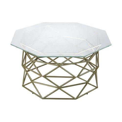 Bracelet Gold Leaf Angular Coffee Table