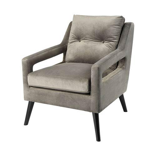 Fleetwood Grey Velvet Chair
