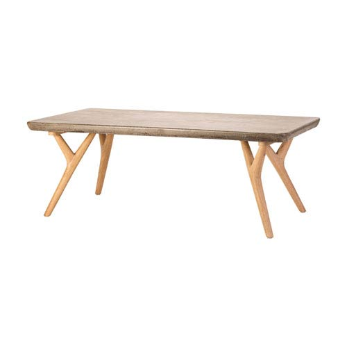 Dimond Home Twigs Concrete and Natural Oak Woodtone Coffee Table