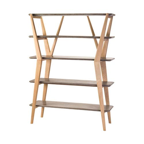Twigs Concrete and Natural Oak Woodtone Shelves Shelves