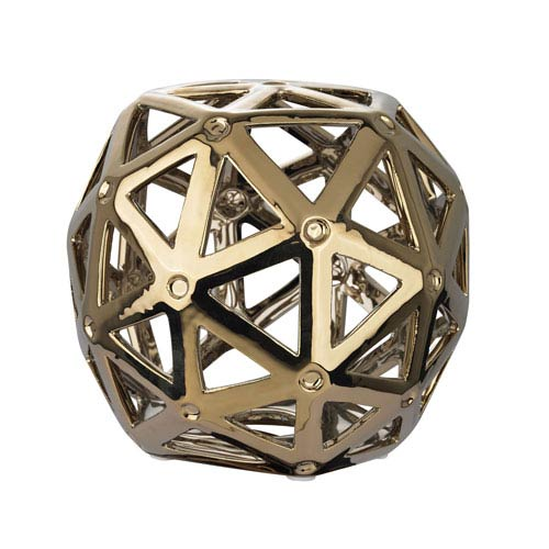 Perforated Multi-Hexagonal Silver Plated Stand