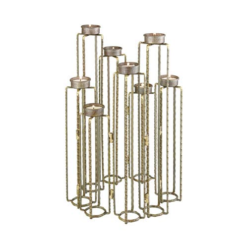 Ascencio Rust Hinged Candle Holders