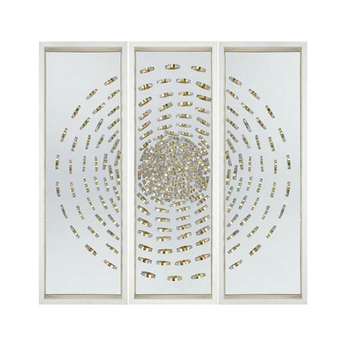 Cache Silver and Gold Wall Decor - Set of 3
