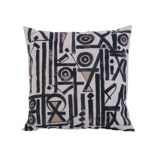 Black and White Street Pillow III