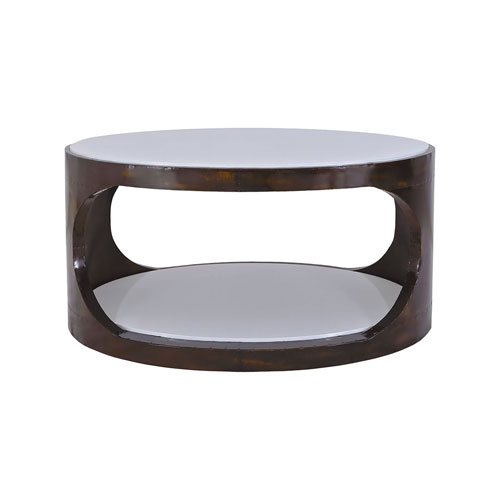 Dimond Home Mister Antique Brass and Cappuccino Foam Coffee Table