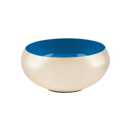 Dimond Home Argos Gold and Royal Blue Round Bowl