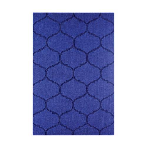 Dash Blue Handwoven Wool Rug 5x8