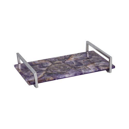 Dimond Home Amethyst and Polished Nickel Tray