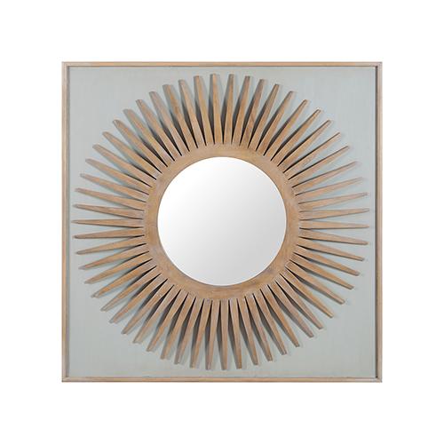 GuildMaster Manor Artisan Dark Stain Starburst Mirror