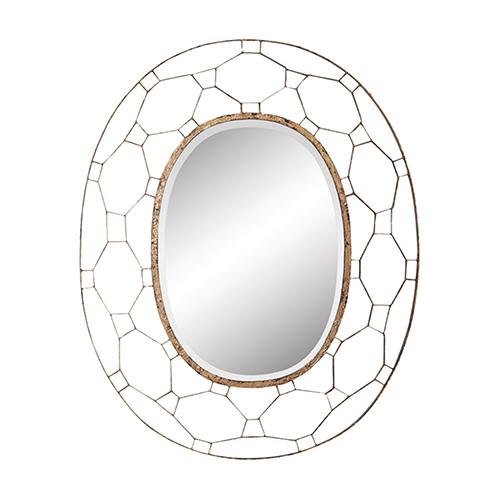 Manse Antique Gold Mirror