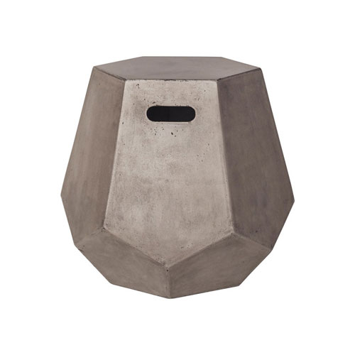 GuildMaster Delana Waxed Concrete Side Table