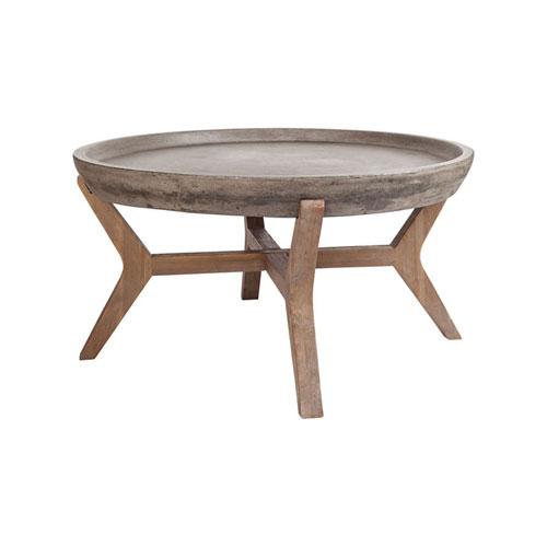 GuildMaster Tonga Waxed Concrete Coffee Table Bellacor - Oval concrete coffee table