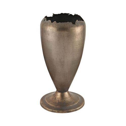 GuildMaster Natured Aged Jagged Mouth Metal Vase