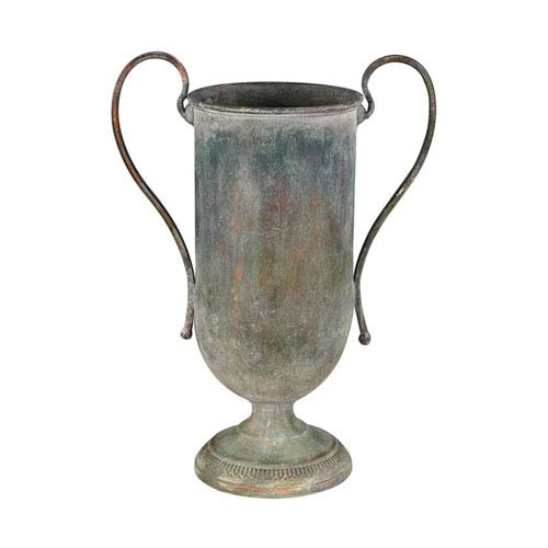 Natured Aged Eared Metal Urn