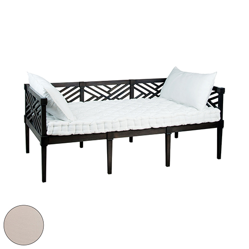 Teak Daybed Cream Daybed Cushion Only