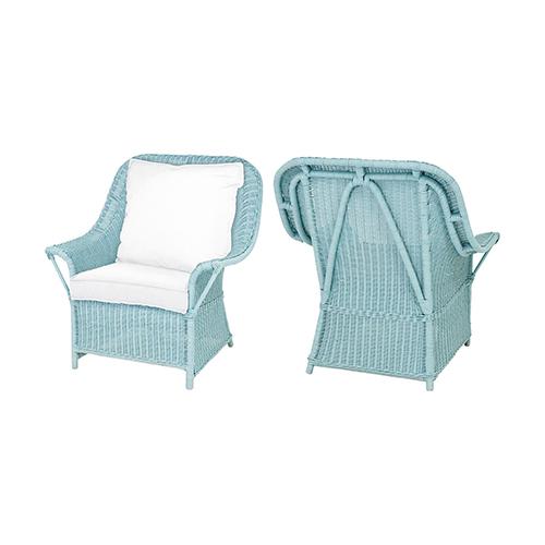 White 26-Inch Slat Patio Chair Cushion