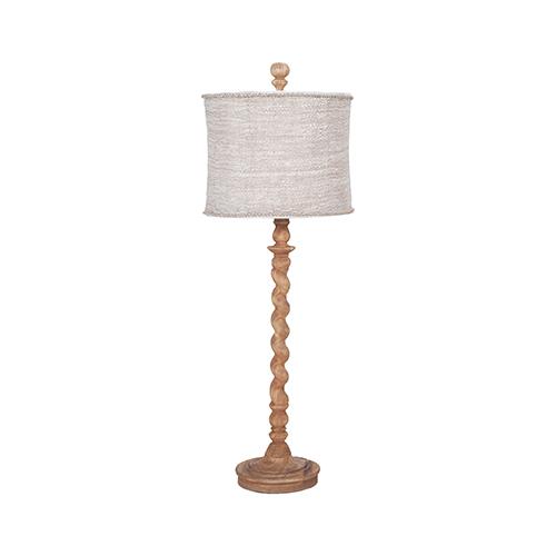 Barley Twist Honey Oak One-Light Spindle Lamp