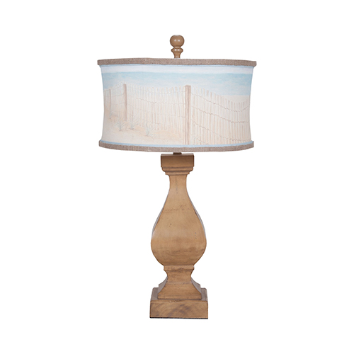 Carved Beacon Artisan Stain One-Light Table Lamp