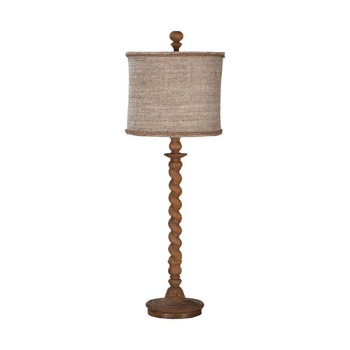 Barley Twist Honey Oak One-Light Spindle Table Lamp