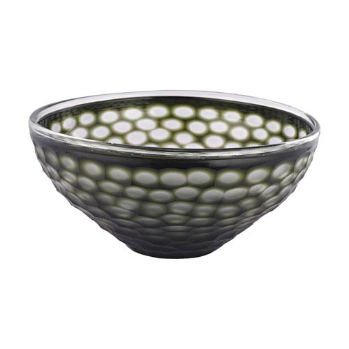 Gogli Green Cut Glass Bowl