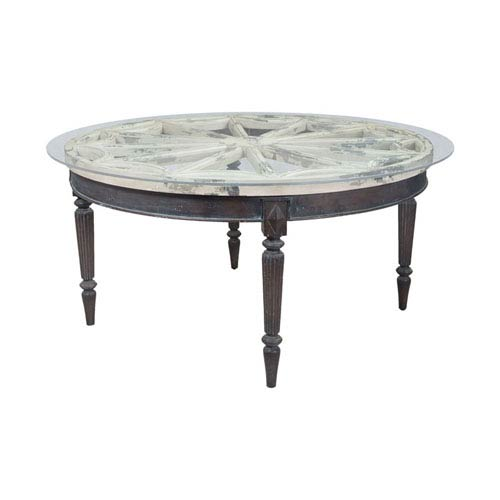 Artifacts Vintage Bouleau Blanc Round Dining Table