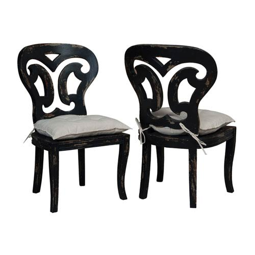 GuildMaster Artifacts Black Side Chairs - Set of 2