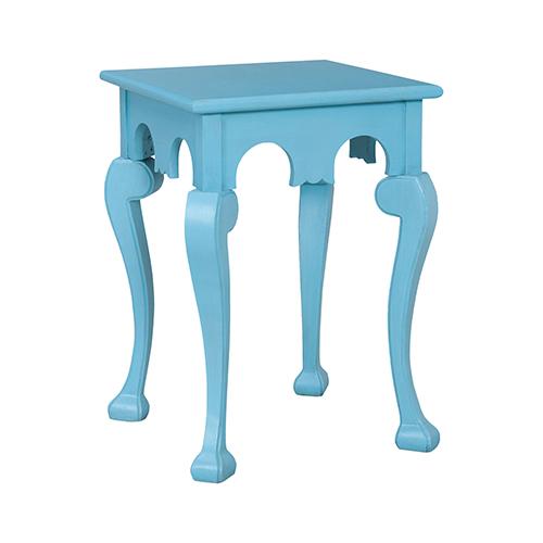 Manor Cabriole Manor Aqua Side Table