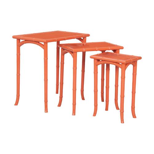 Loft Tangerine Bamboo Nesting Tables- Set of 3