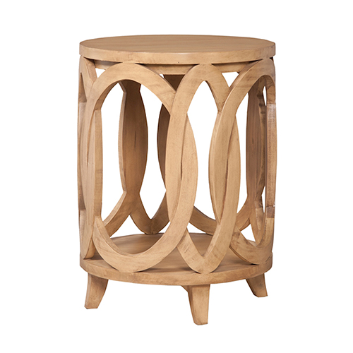 Blonde Interlocking Circles Accent Table
