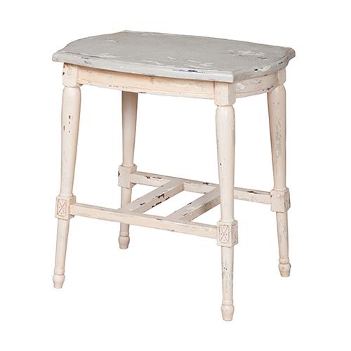 Gustavian Cream Accent Table
