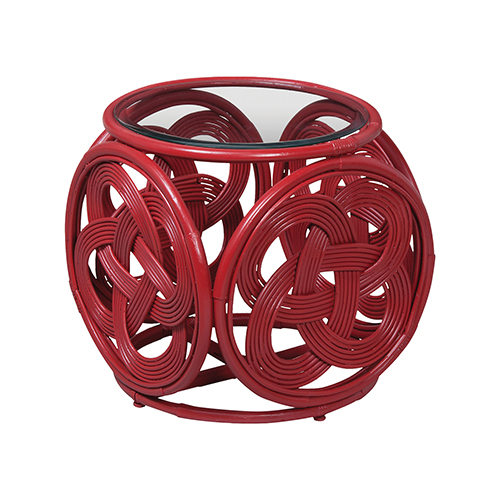 Celtic Knot Red Side Table