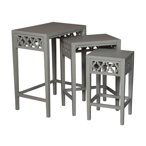 GuildMaster Manor Gray Nesting Tables- Set of 3