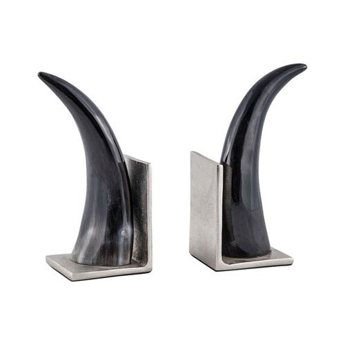 Abilene Natural Horn Bookends - Set of 2