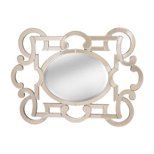 Sterling Industries Caley Mahogany Oval Mirror