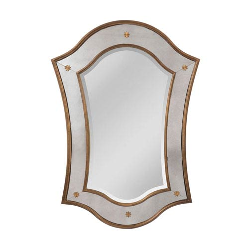 Sterling Industries Cornell Mayan Gold Arched Mirror