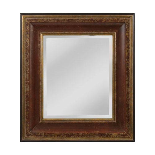 Sterling Industries OReiley Aged Walnut and Roman Gold Square Mirror