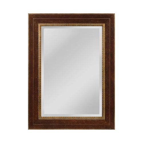 Sterling Industries Darcey Walnut and Roman Gold Rectangle Mirror