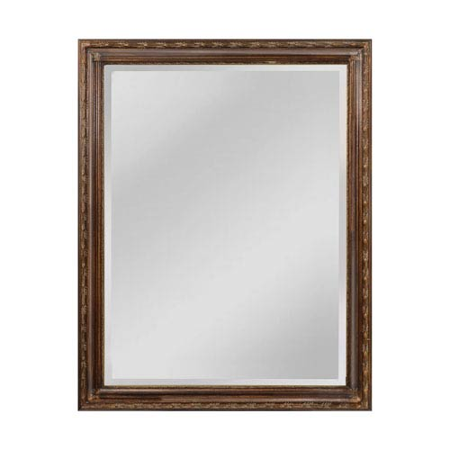 Sterling Industries Glenroy Bronze 36 x 47-Inch Rectangle Mirror with Wood Frame