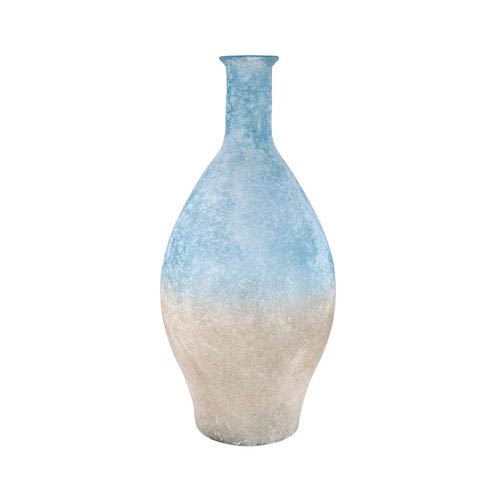 Medea Textured Azure and Textured Smoke Vase