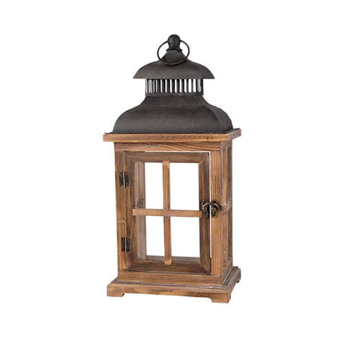 Clifton Aspen and Smoke Sixteen-Inch Lantern