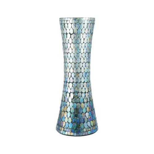 Ambia Aqua Shimmer Mosaic Vase