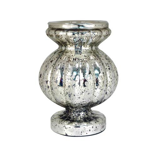 Pomeroy Carmela Antique Silver Eleven-Inch Candle Holder