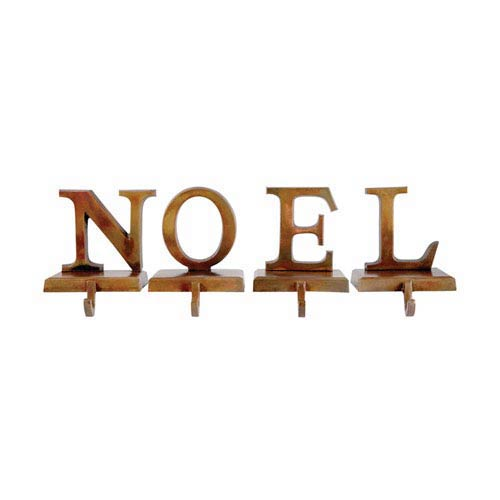 Noel Burned Copper Stocking Holder